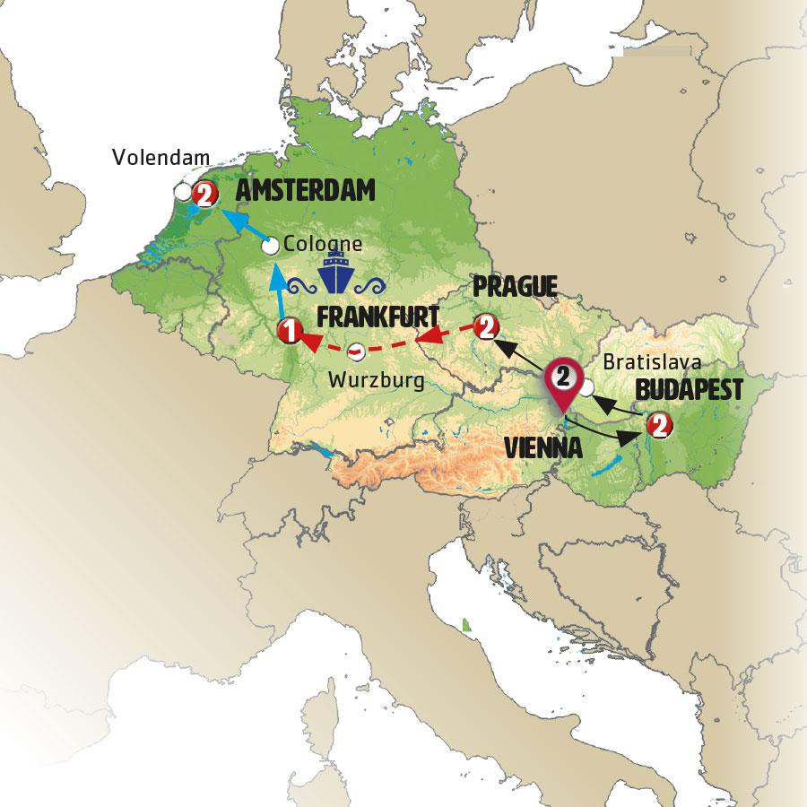 Circuito W Mapa : A piece of europe europamundo vacations
